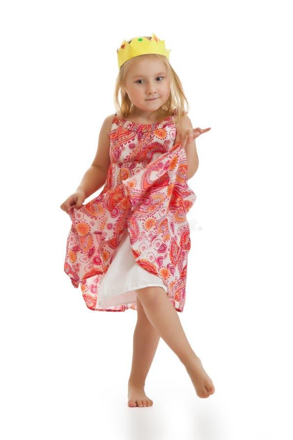 weinig prinses danst royalty-vrije stock foto's