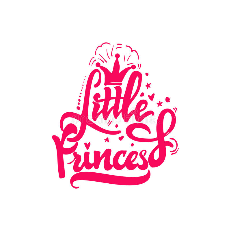 Weinig Prinses Kalligrafisch flard Unieke Douanekarakters Hand het Van letters voorzien voor Ontwerpen vector illustratie