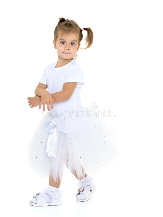 Weinig prinses in witte kleding royalty-vrije stock foto's