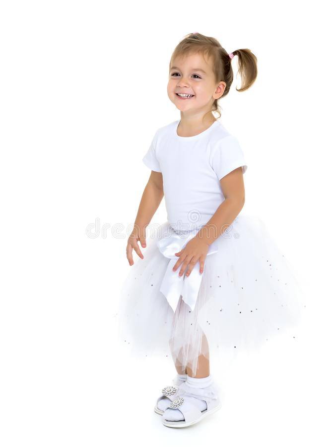 Weinig prinses in witte kleding stock afbeeldingen