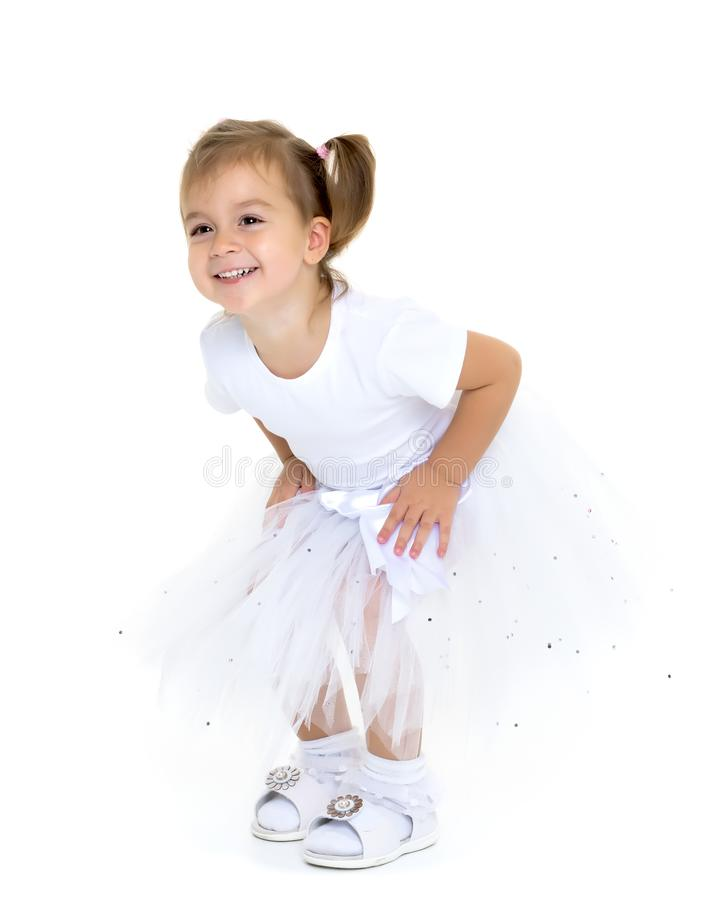 Weinig prinses in witte kleding royalty-vrije stock afbeeldingen