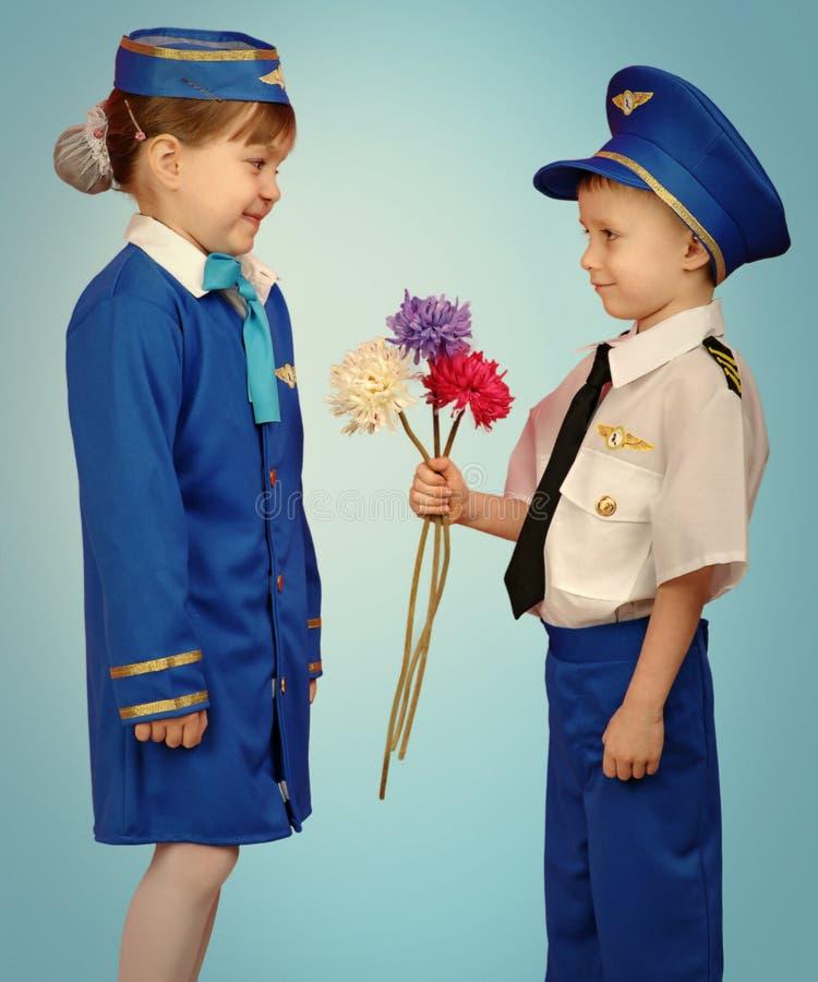 Weinig proef en stewardess royalty-vrije stock afbeelding