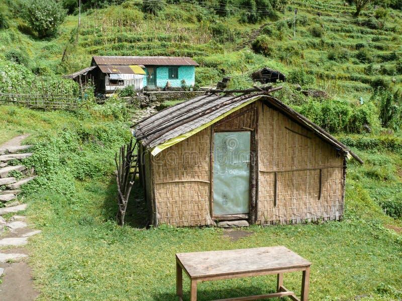 Weinig regeling dichtbij Chhomrong, Nepal royalty-vrije stock afbeelding