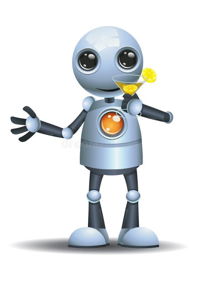 Weinig robot drinkt fruitstempel vector illustratie