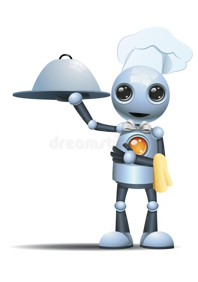 Weinig robot elegante mannelijke chef-kok royalty-vrije illustratie