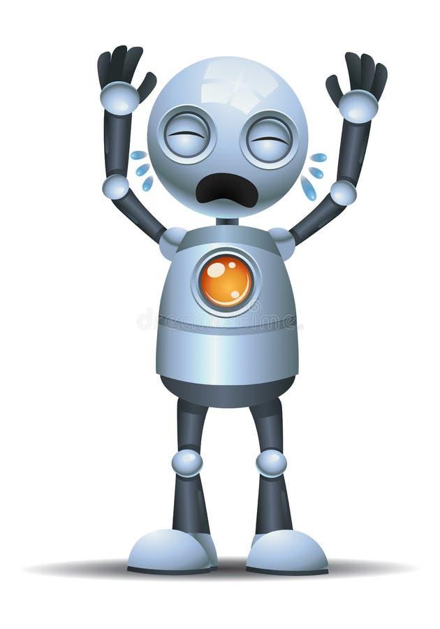 weinig robot luid schreeuwen vector illustratie