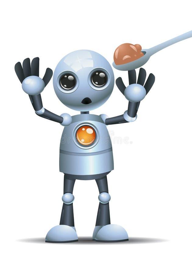 Weinig robot weigert te eten royalty-vrije illustratie