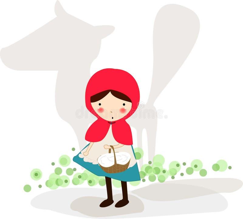 Weinig Rode Berijdende Kap vector illustratie