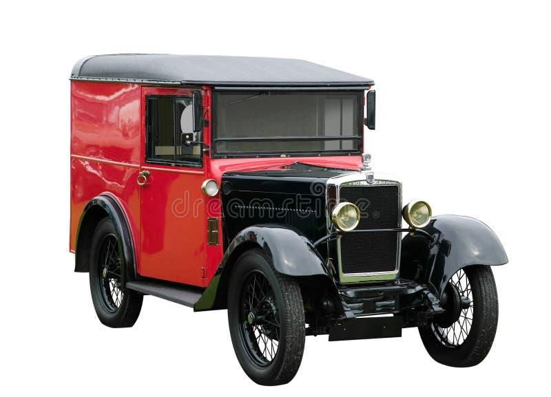 Weinig rode bestelwagen stock afbeelding