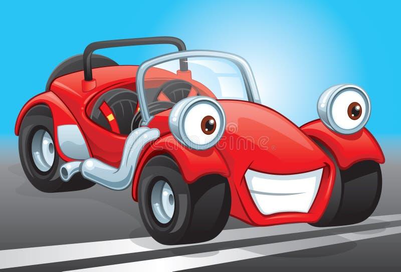 Weinig rode uitrustingsauto stock illustratie