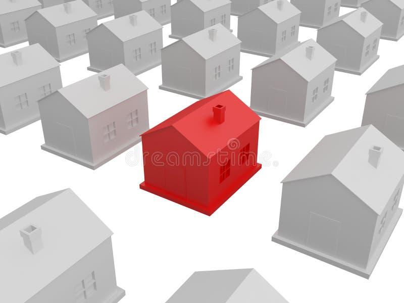 Weinig rood huis stock illustratie
