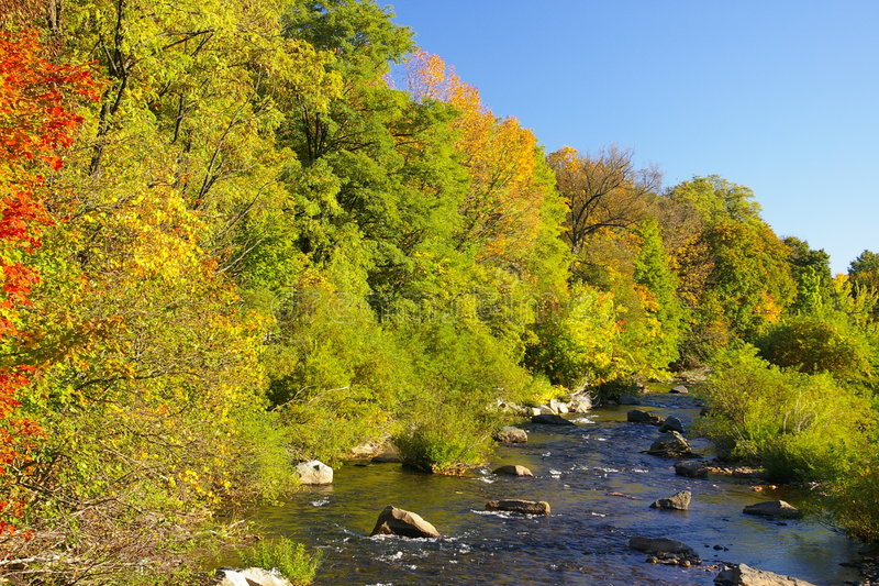 Weinig Schuylkill Rivier, Tamaqua, Pennsylvania royalty-vrije stock foto's