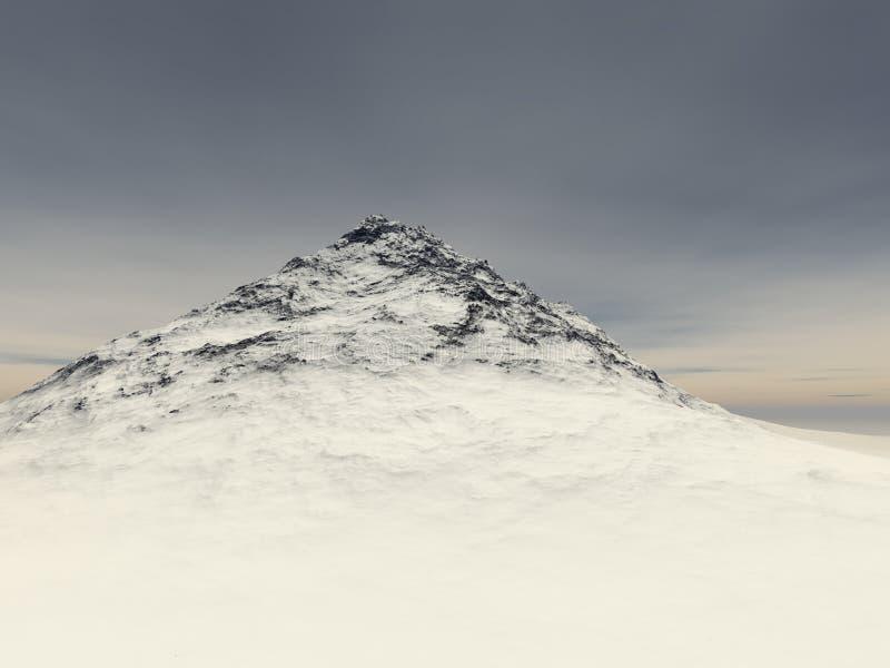 Weinig snow-covered rots bij de hoogte van royalty-vrije illustratie