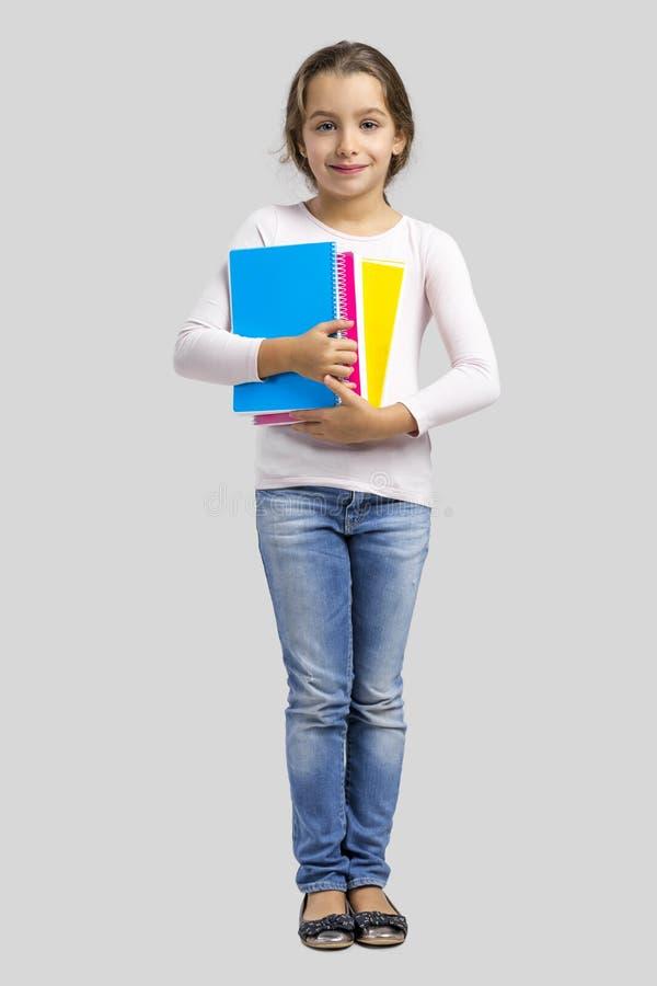 Weinig studentenmeisje stock afbeeldingen