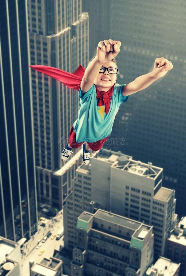 Weinig Superhero royalty-vrije stock afbeelding
