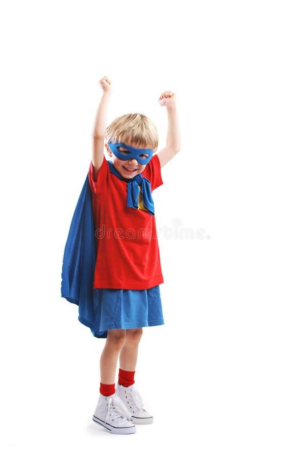 Weinig Superhero royalty-vrije stock foto