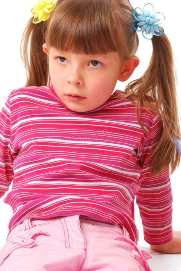 Weinig toevallig meisje stock fotografie