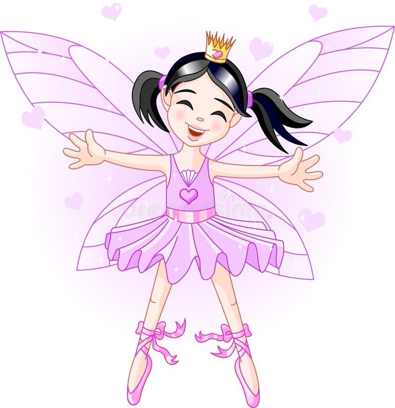 Weinig violette fee royalty-vrije illustratie