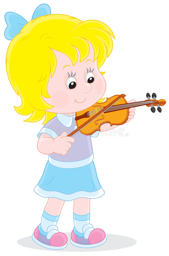 Weinig violist royalty-vrije illustratie