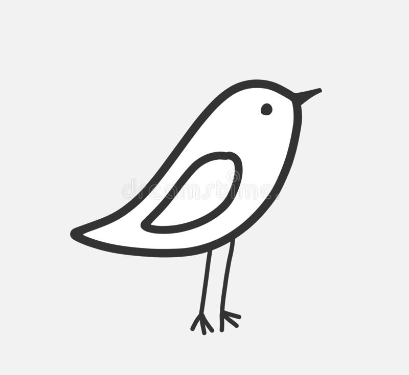 Weinig vogelpictogram vector illustratie