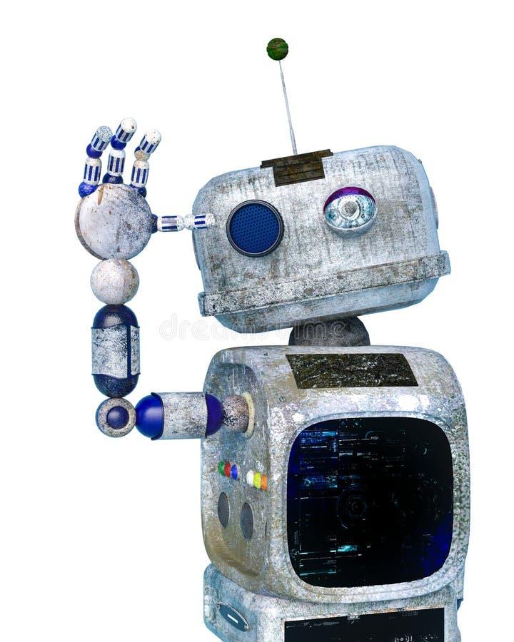 Weinig vuilrobot op een witte achtergrond vector illustratie