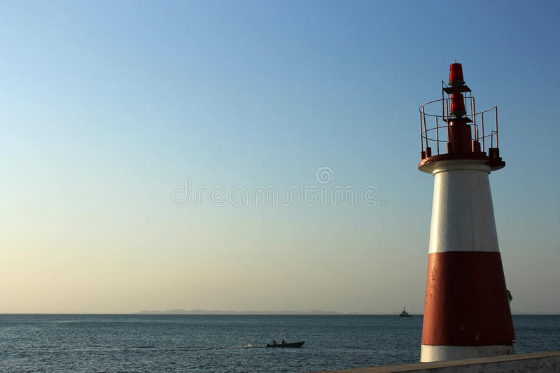 Weinig Vuurtoren in Salvador de Bahia. royalty-vrije stock foto's