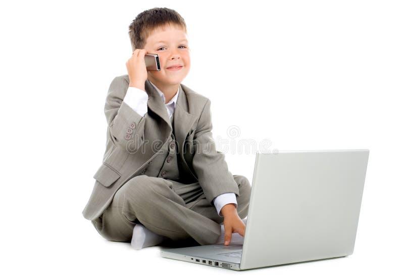 Weinig zakenman stock foto