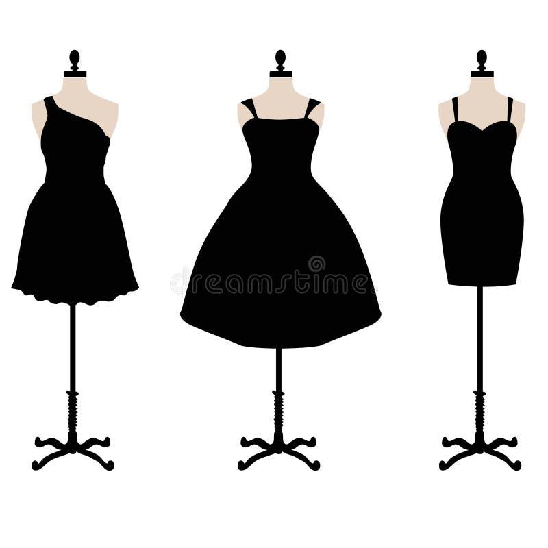 Weinig zwarte kleding royalty-vrije illustratie