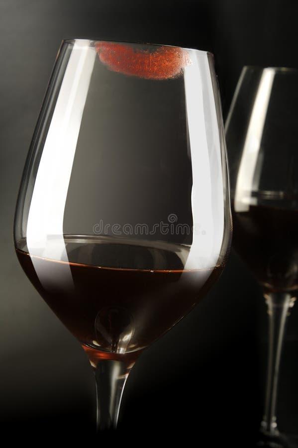 Weinküssen stockbild