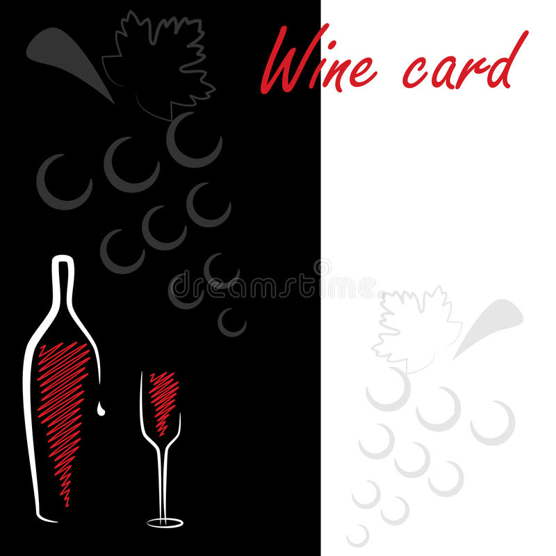Weinkarte vektor abbildung