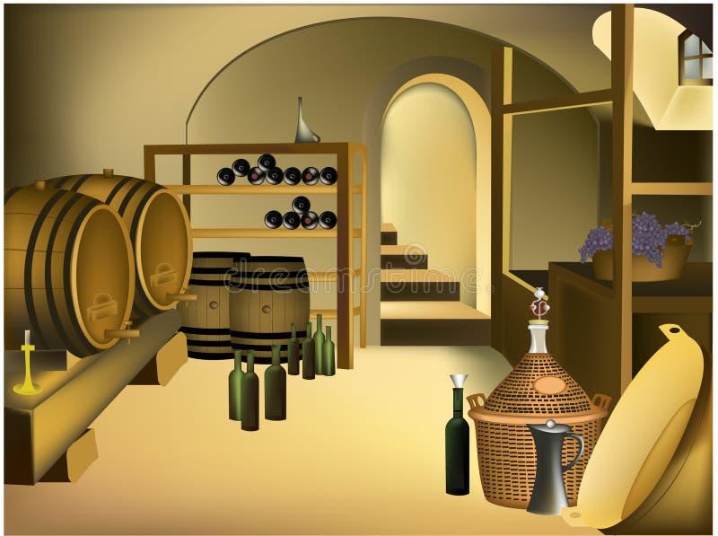 Weinkeller lizenzfreie abbildung
