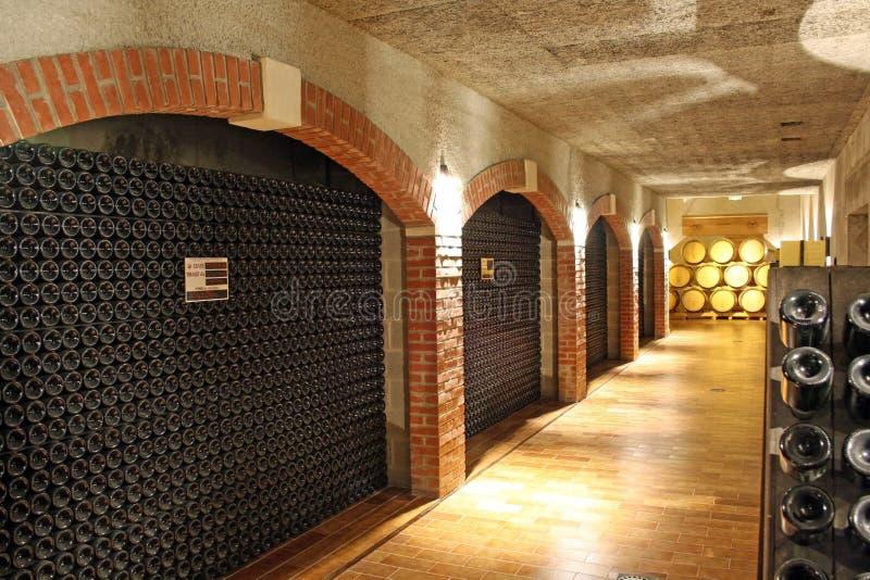 Weinkeller stockfoto