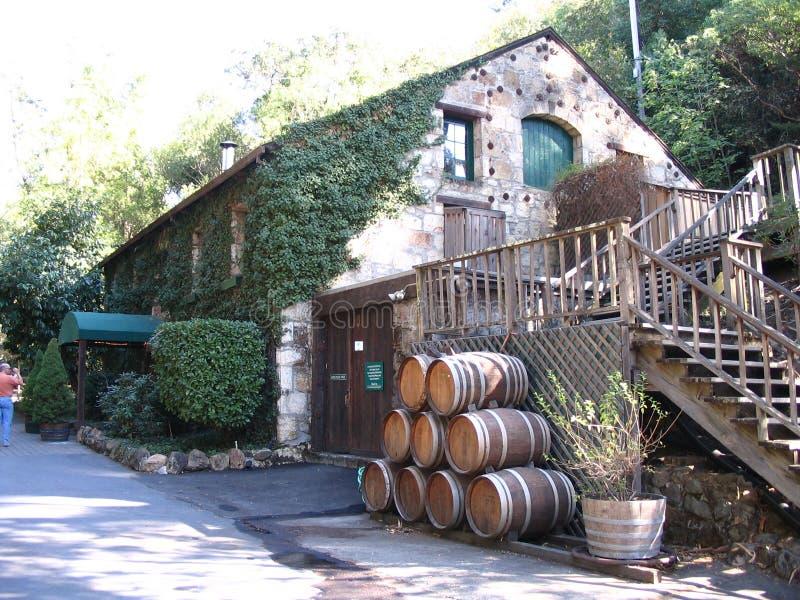 Weinkellerei Sonoma Tal stockbilder