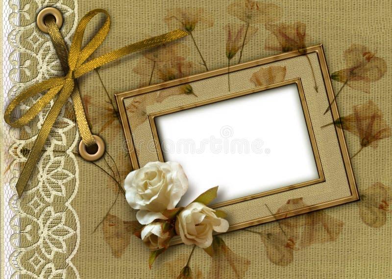 Weinlese alterte Hintergrund stock abbildung