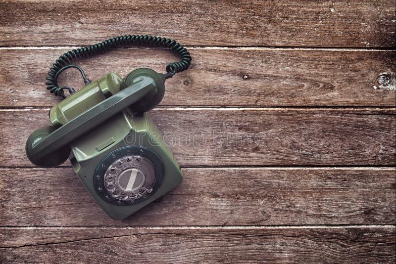 Weinlese-altes Telefon stockfotografie