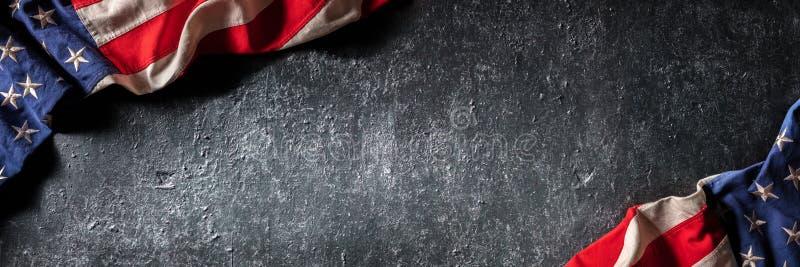 Weinlese-amerikanische Flagge lizenzfreie stockfotografie