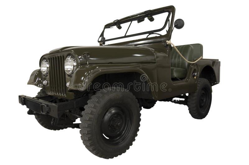 Weinlese-Armee-Jeep stockbild