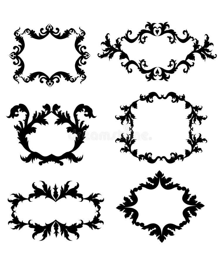 Weinlese-Art-Blumenrahmen - Vektor lizenzfreie abbildung