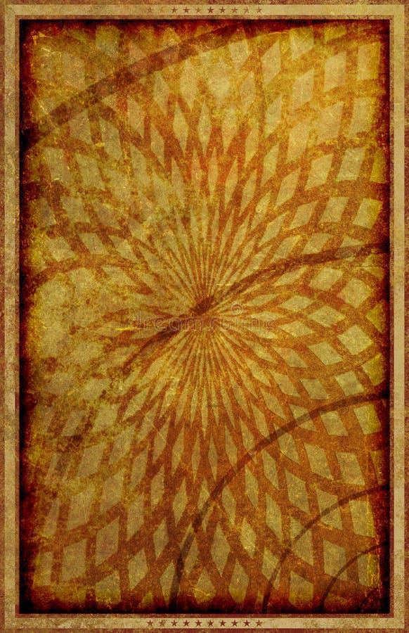 Weinlese-Art-Schmutz-Plakat-Hintergrund-Illustration stock abbildung