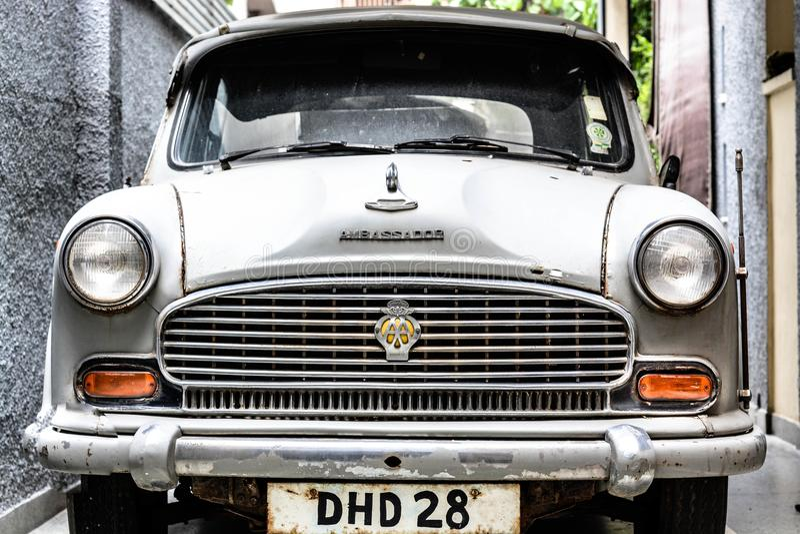 Weinlese-Autos droven Br Ruthrford stockfotografie