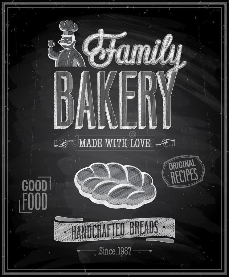 Weinlese-Bäckerei-Plakat lizenzfreie abbildung