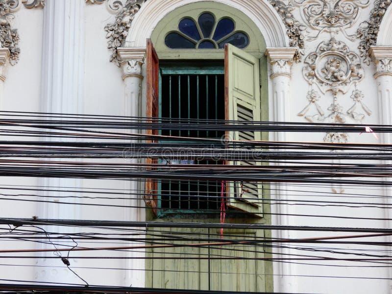 Weinlese-Bangkok-Architekturgebäude lizenzfreie stockfotografie