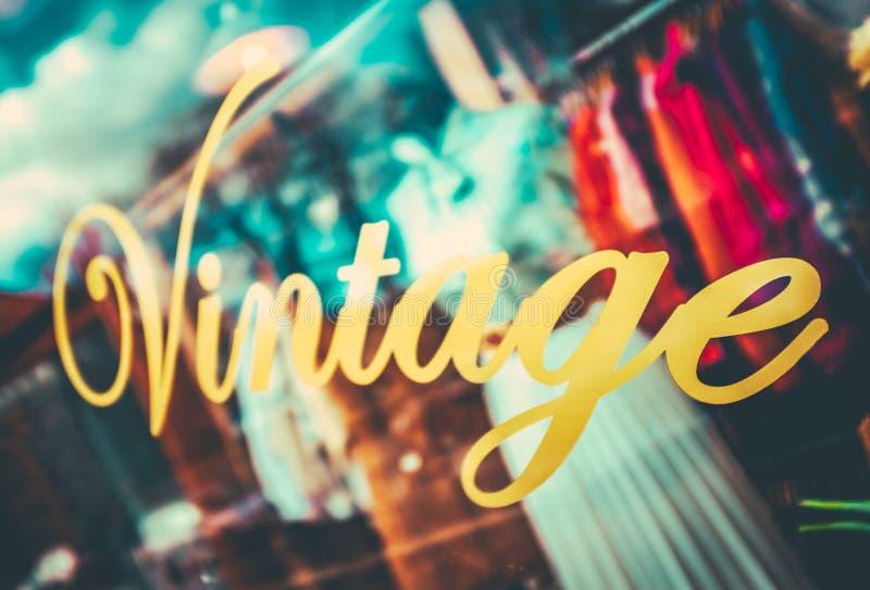 Weinlese-Bekleidungsgeschäft lizenzfreies stockbild