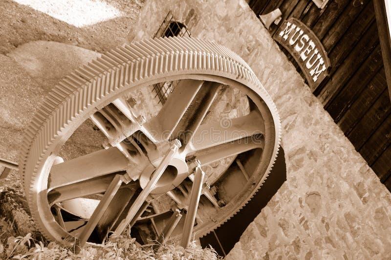 Weinlese-Bergwerksmaschine-Gang lizenzfreie stockfotos