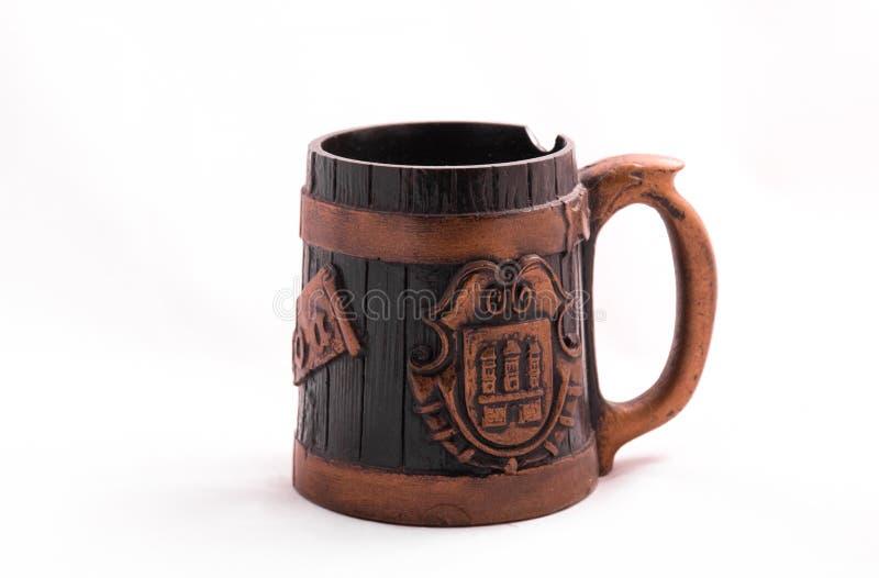 Weinlese-Bier-Cup stockbilder