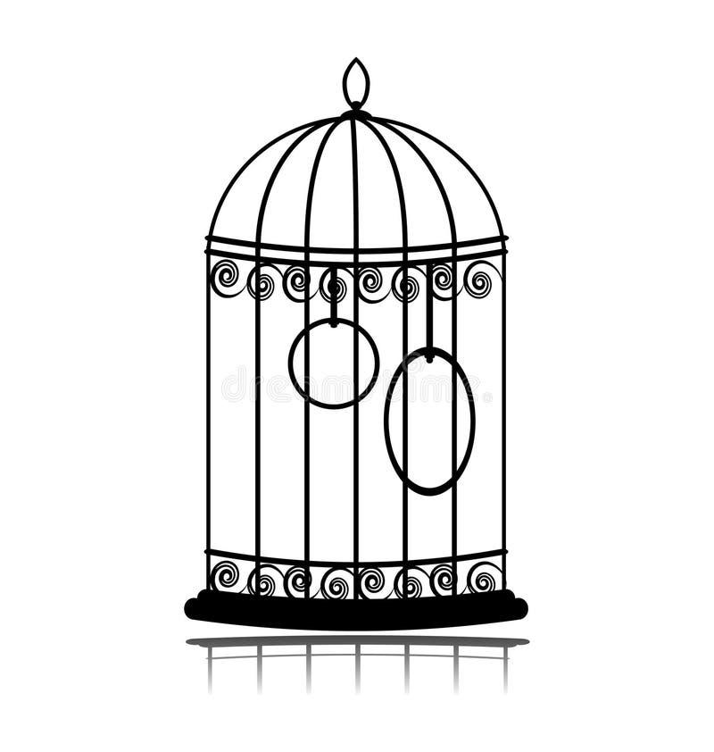 Weinlese Birdcage vektor abbildung