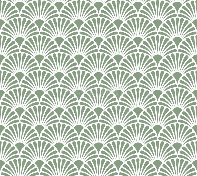 Weinlese Blumen-Art Deco Seamless Pattern Geometrische dekorative Beschaffenheit vektor abbildung