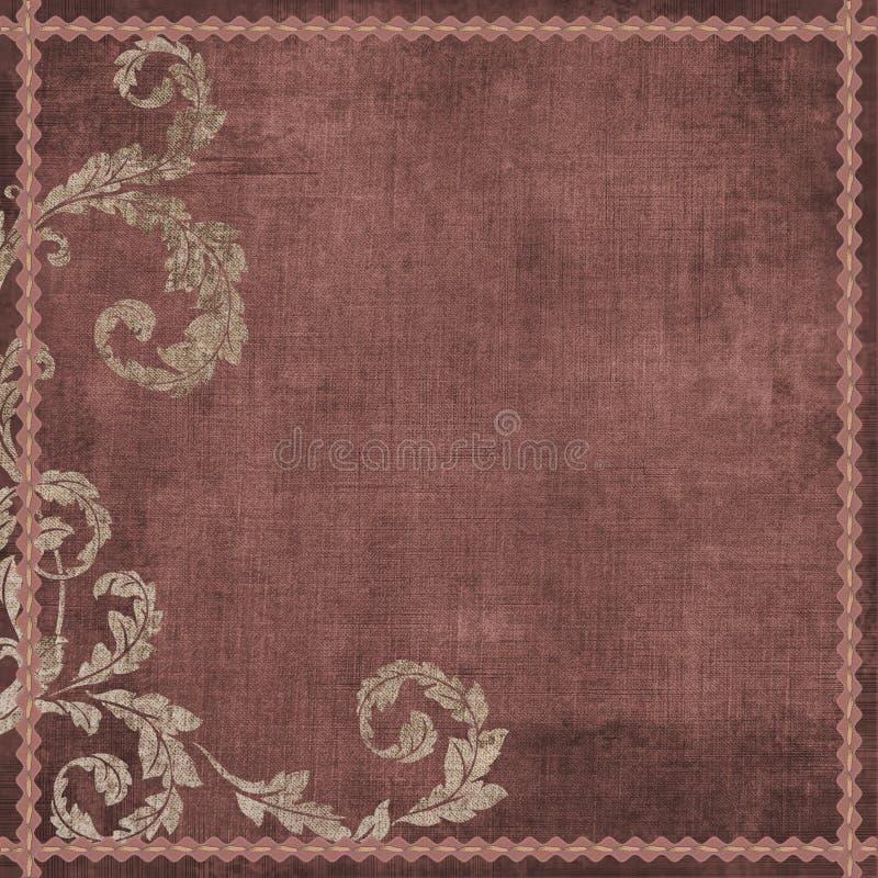 Weinlese BlumenGrunge böhmischer Tapisserie-Einklebebuch-Hintergrund lizenzfreie abbildung