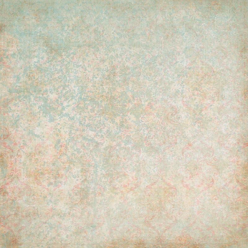 Weinlese-Blumentapete stock abbildung