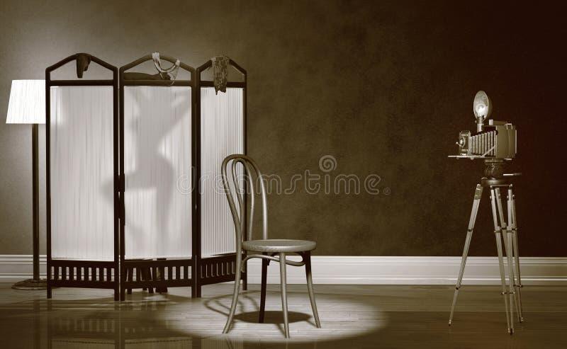 Weinlese-Boudoir-Fotographie lizenzfreies stockbild